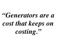 Generator Quote 2 - Many of Our Customers Already Had a Generator