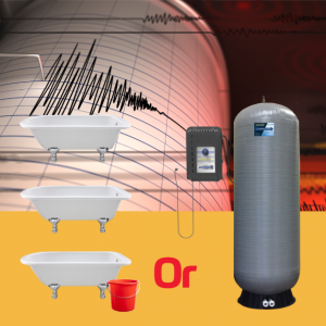 Whole-House Emergency Water Backup for Earthquakes