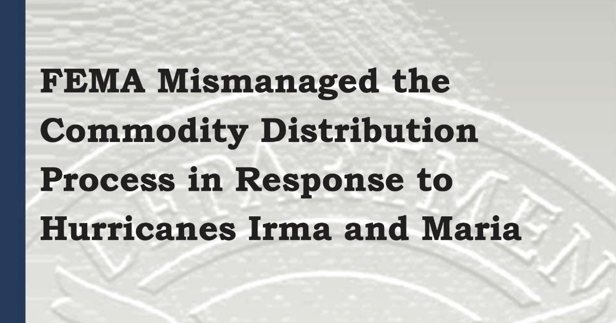 FEMA OIG Hurricane Maria Report